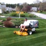 man on lawn services