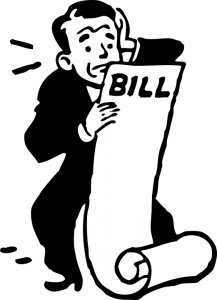 man holding bills